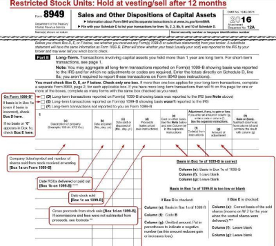 Report stock options tax return